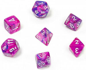 Polyhedral Dice: Festive Violet w/ White. Chessex. Best Price