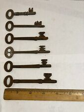 6 Vintage  Skeleton Keys
