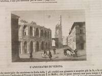 NOVEMBRE 1842 ALBUM ROMA HAVRE DE GRACE TEATRO VERONA