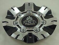 """EXE Pegasus Wheels Black / Silver Custom Wheel Center Cap Caps # AV4 / 20"""" 22"""""""