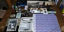 New ListingJunk Drawer Coins Vintage Perfume Lot Roll Coins Monet Page old stamps Jewelry