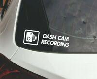 5 x DASH CAM Recording Warning Stickers-30mm CCTV Signs-Car,Taxi,Mini Cab Van