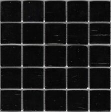 25pcs SM77 Black Bisazza Smalto Italian Glass Mosaic Tiles 2cm x 2cm