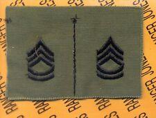 USA Enlisted SERGEANT FIRST CLASS SFC E-7 OD Green & Black rank patch set