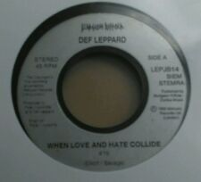 """Def Leppard When Love And Hate Collide 7"""" Jukebox Single GD Vinyl Record LEPJB14"""