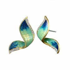 Blue Green Butterfly Earrings
