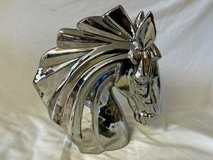 Resin Horse Sculpture silver Home Nordic Abstract Statue Animal Ornament Gifts