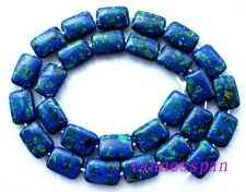 Azurite Malachite Flat Rectangle  Beads 10×14mm15.5""