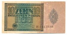 Germany Weimar Republic Reichsbanknote 10 Billionen Mark 1.2. 1924 VF #134 RARE