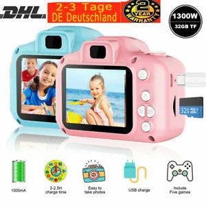 2,0'' LCD Kinderkamera Digitalkamera 1300W mit 32GB TF 1080P Foto Video Camera
