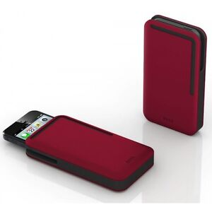 DOSH NEW iPhone 5 Wallet Case Rubber Red BNIB