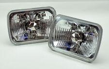 "7x6"" Halogen Semi Sealed H4 Crystal Clear Headlight Conversion w/ Bulbs GMC"