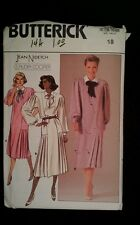 Butterick  3525 Ladies Jean Nidetch dress  Sewing  Pattern  Size  18  new