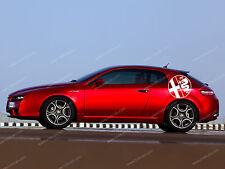 2 x Alfa Romeo Kreis Aufkleber Für Seite GT Brera 159 156 147 GTV Emblem Logo XL