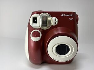 Polaroid 300 Instant Camera Burgandy | Some Wear | Tested | Works Great