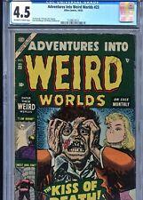 Adventures Into Weird Worlds #23 CGC 4.5 VG+..KISS OF DEATH.!.PCH