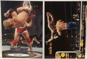 2002 Fleer WWE Royal Rumble RANDY ORTON Rookie #14 + 2003 JOHN CENA Wrestlemania