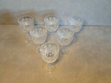 Beautiful Set Of 6 Antique ABP Brilliant Period Cut Glass Wines Libbey