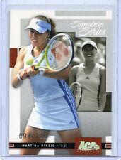 2005 ACE AUTHENTIC SIGNATURE SERIES MARTINA HINGIS BASE PARALLEL # 098/100