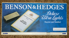 Rare Vintage Benson and Hedges Deluxe Ultra Lights Open / Closed Shop/Store Sign
