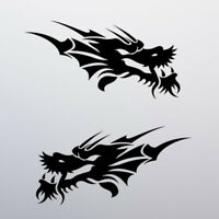 Tribal Dragon Sticker Decal Car Window Vinyl Tattoo Bike Moped Vespa Chinese JDM