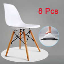 Set of 8 Retro Vintage Dining Office Lounge Chairs Plastic & Beech Wood Legs