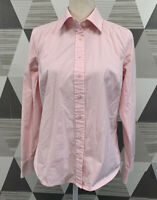 VIneyard Vines Women's Size 10 Pink Button Front Long Sleeve Stretch Top Shirt