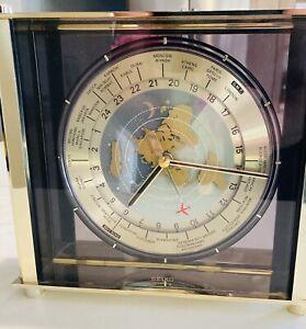 Seiko-Vintage quartz World Time Zone W/airplane 2nd hand Clock Japan