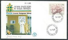 1982 VATICANO VIAGGI DEL PAPA LIVORNO ROSIGNANO SOLVAY  - SV