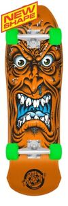 Santa Cruz Rob Roskopp FACE MINI Cruiser COMPLETE Skateboard FLORESCENT ORANGE