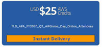 $25 AWS Promo Credit Code (Stackable 2 per AWS Account). New event: July 2020