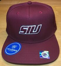 Siu Salukis Southern Illinois Baseball Top Of The World Hat Cap Snapback