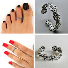 2x Celebrity Women Fashion Simple Flower Toe Ring Adjustable Foot Beach Jewelry