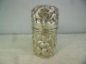 American Repousse Solid Silver Art Nouveau Perfume Bottle Holder