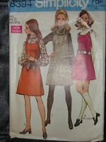 8394 Vintage Simplicity Misses Jumper in Two Lengths, Blouse & Scarf Sz 10