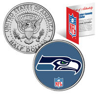SEATTLE SEAHAWKS NFL JFK Kennedy Half Dollar US Coin  *Officially Licensed*