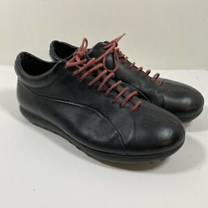 Camper Beetle 250gr Mens Black Red Leather Shoes US Size 10 EUR 43 UK 9