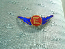 RARE PRE WW11 ? ENGLISH ELECTRIC AIRCRAFT WINGS ENAMEL PIN BADGE