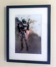 "Star Wars ""Boba Fett"" Action Figure Toy Art Framed A4 Printed Poster Print Image"
