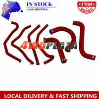 Silicone Radiator Hose Kits For Holden Commodore VY V8 5.7 LS1 2002-2004 (Red)