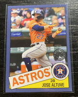 Jose Altuve 2020 Topps Series 1 85-48 Blue Parallel Houston Astros