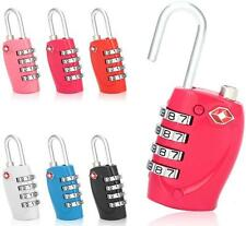 TSA Security 4 Combination Travel Suitcase Luggage Bag Code Lock Padlock
