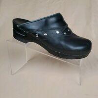 Sanita Danish Design Black Studded Leather Orthopedic Clog EUR 40 US 9-9.5