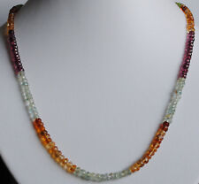 Multicolore Collana pietre preziose con SFACCETTATO PERIDOTO quarzo citrino