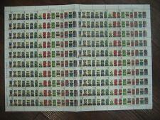Complete Sheet 2001 Buses Se-Tenant Stamps Sg2210 Sg2211 Sg2212 Sg2213 Sg2214