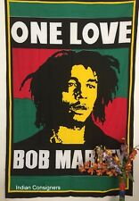 Fan Bob Marley Twin Tapestry One Love Bedding Sheet Wall Hanging Bedspread Star
