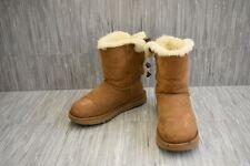 UGG Bailey Bow II 1016225 Water-Resistant Suede Winter Boots, Women's 8 Chestnut