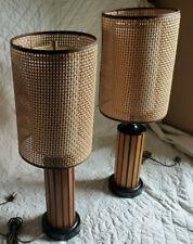 MCM Danish ModernVintage Gruvwood Lamp Pair