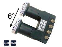 HD Line Monoblock (Astra+Hotbird) Qaud Lnb 0,1dB, 60dB Gewinn FullHD 6 Grad TOP