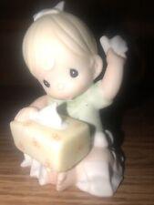 "Nib ~ Precious Moments ""Bless You"" 620021 Girl w/ Tissue Box"
